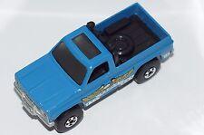 ORIGINAL Hot Wheels Trailbusters - Blue Bywayman Eagle Pickup - BWs - Metal Base
