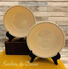 """Vintage Corelle """"FOREVER YOURS"""" ~Set of 2~ 1 Quart Serving Vegetable Bowls 8.5"""""""