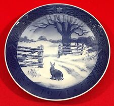 Vintage Royal Copenhagen Christmas Collector Plate, 1971, Hare in Winter