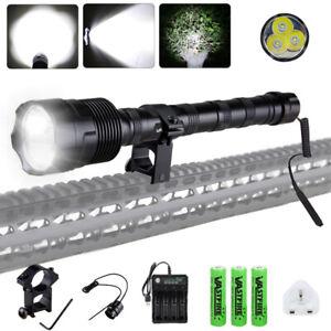 90000LMS 3x T6 1 Mode Super Bright Flashlight Torch Hunting Weapon Gun Light
