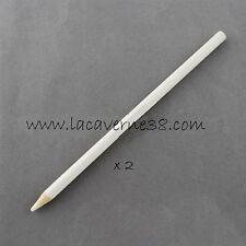 2 crayons craie tailleur blanc couture mercerie tissus patchwork loisirs créatif