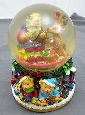 Santa Claus Is Coming to Town Holiday Musical Snow Globe Dome Sankyo by Kcare