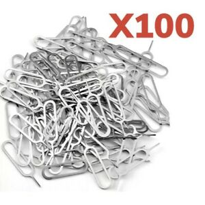 100x Sim Card Tray Eject Removal Pin Tool For iPhone iPad Samsung Galaxy &Others