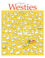 A Waggle of Westies, Westie, West Highland White Terrier, Westies, Artwork