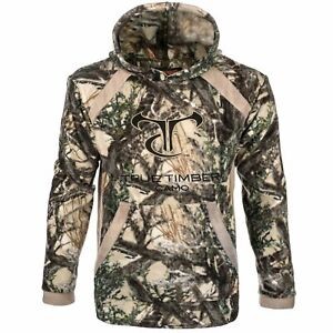New True Timber Fleece Embroidered Hoodie W/ Trimmed Accents Mc2