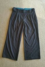 EMERGE SIZE 18 WOOL BLEND BLACK BELTED MANSTYLE PANTS WITH PINSTRIPES. NWT