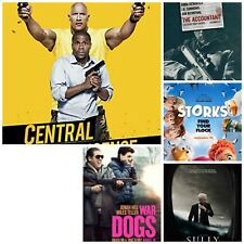 Huge Movie Poster Lot of 5 War Dogs, Scully, The Accountant, Storks, Central Int