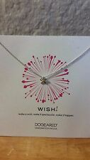 """Dogeared Classic  Silver Bow Necklace 18"""""""