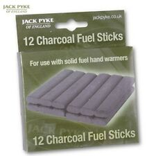 JACK Pyke bastoncini di carbone di legna combustibile X12 Mano Warmers BRUCIATORI RICARICA CACCIA PESCA