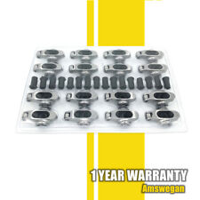 Stainless Roller Rockers Arms With Polylocks 16 Ratio 38 Studs Chevy Sbc 350