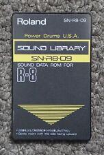 Tambores De Alimentación Roland SN-R8-09 rom de datos de biblioteca de sonido U.s.a. tarjeta R-8/R-8M