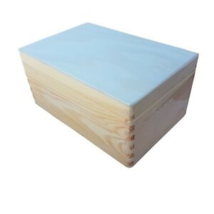 Wooden Trunk / Box  30x20x13.5 cm Whit Lid, Storage Box, Without Handles