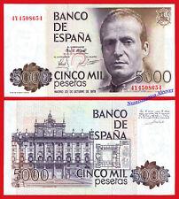 ESPAÑA SPAIN 5000 pesetas 1979 Juan Carlos I Pick 160 SC / UNC