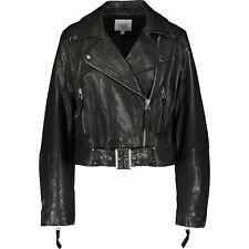 MAISON CINQCENT Women's 100% REAL LEATHER Biker Jacket: L  ,rrp:£325, new
