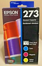 Epson 273 (T273520) Color Inks 4 Pack CMY & Photo Black Sealed Box Exp 01/2024