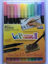 Marvy Le Plume II Double Ended Markers PASTEL SET #1122-12B NEW