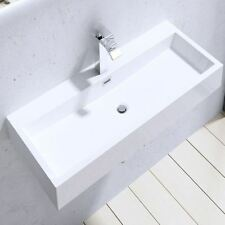 Durovin Bathrooms White Stone Resin Basin Wall Hung Counter Top 765mm