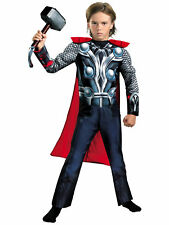 Thor The Avengers Assemble Muscle Deluxe Superhero Boys Costume S 4 - 6