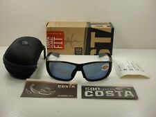 COSTA DEL MAR GLOBAL FIT TUNA ALLEY SUNGLASSES BLACK/BLUE 580P LENS TA11GF OBMP