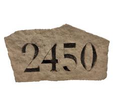 Numéro de maison 23 x 15, véritable pierre reconstituée artisanale