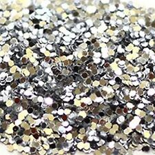1kg Budget Silver Glitter 040 1mm Square Double Sided Body Walls Craft Kilogram