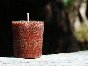 Sampler 20hr DARK CHOCOLATE BORDEAUX Natural VOTIVE Candle Sample Fragrance TAN