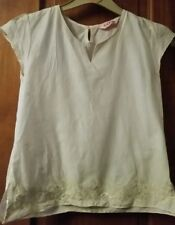 CQ age 10/11 100%cotton embroidered sequin top