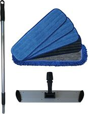 """Ultimate 18"""" Microfiber Mop System - Handle, Frame and 3 Types Cleaning Pads"""
