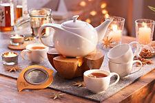 Teeservice Teekanne Teetassen Tassen Porzellan Teeset Teesieb Kork Stövchen 7tlg