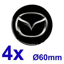 4pcs set MAZDA Silicone Stickers for Wheel Centre Cap Hubs 60mm