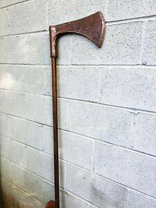 Rare Big Antique French Axe  Executioners - Execution Style  Battle axe