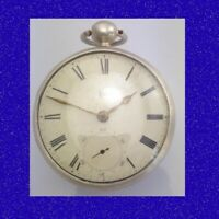 Rare & Stunning Silver Fusee Eccles of Coventry Massey 2 Pocket Watch 1835