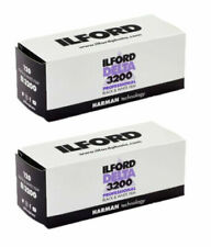 2x Ilford Delta 3200 Professional 120 Black & White Roll Film