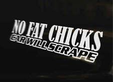 NO FAT CHICKS JDM Decal vinyl sticker Japan Euro Drift Funny