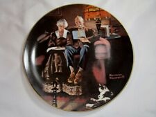 """Norman Rockwell """" Evening Ease """" Plate Bradex"""