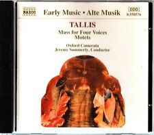 TALLIS: Mass for Four Voices/Motets CD- Oxford Camerata/Jeremy Summerly