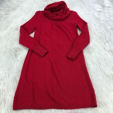 Banana Republic Women's XS Red Luxury Cashmere Blend Cowl Neck Sweater Dress