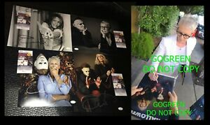 Jamie Lee Curtis signed 11x14 photo Halloween poster JSA sexy Laurie Strodie