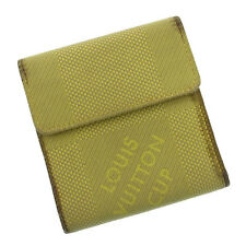 Louis Vuitton Wallet Purse Trifold Logo Yellow Woman Authentic Used I103