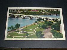 Broadway Bridge, Kiwanis Park and Vimy Memorial 1943 Saskatoon Saskatchewan