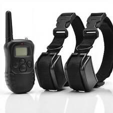 998D Hunting LCD 100LV Level Shock Vibra Remote Pet 2 Dog Training Collar