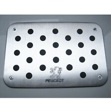 Aluminum Alloy Car Non Slip Floor Mat Carpet skidproof Pedal Plate For Peugeot