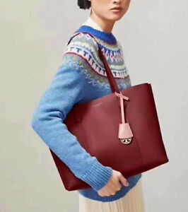 ❤️NWT Authentic Tory Burch Perry Triple-Compartment Tote, Tinto, Worth $348