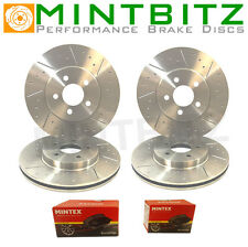Saab 9-3 2.0 T Aero 01/04- Front And Rear Brake Discs And Pads Dimpled Grooved