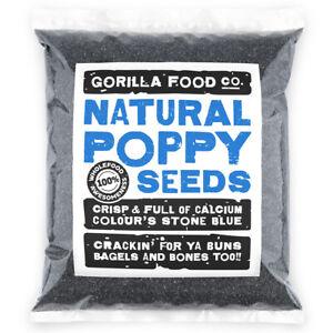 Gorilla Food Co. Natural Poppy Seeds Blue - 200g-6.4kg
