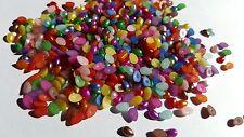 100 x acrylique perle cabochons - 6mm-teardrop-couleurs mélangées