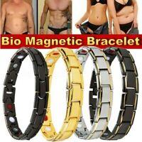 Thérapeutique Énergie Chu Titane Acier Inoxydable Magnétique Bracelet Hommes +A