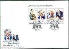 SAO TOME 2013 50th BIRTH ANNIVERSARY GARRY KASPAROV CHESS SHEET FDC