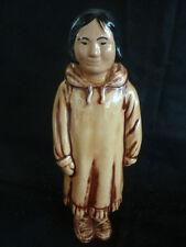 Eskimo Figure of Woman  Handcrafted in AK Merritts Alaskan Crafts Clam Gulch