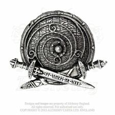 Viking Shield Belt Buckle ALCHEMY GOTHIC War Band Rune Sword Nordic Norse buckle